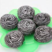 6个装钢丝球  袋装钢丝球 厨房用品  家居用品 不生锈钢丝球